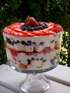 Eat My Cakes: Berry 4th of July Trifle