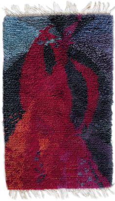 Ulla Schumacher-Percy Attributed; Wool Rya Rug, 1960s.