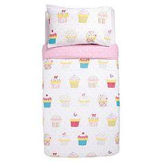 {Tesco Kids Cupcake Polka Duvet Set}  #cupcakesforkids