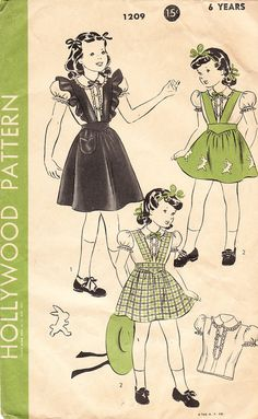 Vintage 1940's Pinafore Jumper and Collared by daisyepochvintage, $10.00