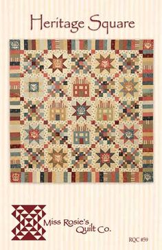 Oh what a quilt~ Irish Chain, houses AND stars, plus a piano key border! I must have it, therefore I must make it!