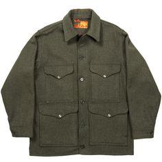 Filson Men's Mackinaw Wool Cruiser Jacket - Olive Grey | 1960s