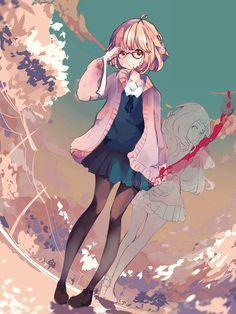 Kyoukai no Kanata Fan Art: Mirai Kuriyama Otaku Anime, Manga Anime, Anime Art, Chibi, Mirai Kuriyama, Beyond The Boundary, Kyoto Animation, Anime Kawaii, Manga Girl