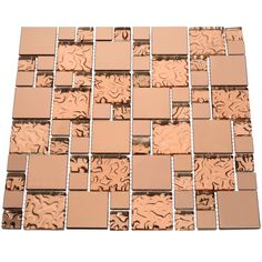 Shop for Copper Goddess Glass Tiles Square Feet) (Case of 11 sheets). Get free delivery On EVERYTHING* Overstock - Your Online Home Improvement Shop! Get in rewards with Club O! Decorative Tile Backsplash, Backsplash Arabesque, Copper Backsplash, Herringbone Backsplash, Kitchen Backsplash, Hexagon Backsplash, Granite Backsplash, Kitchen Cabinets, Beadboard Backsplash