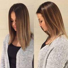 Resultado de imagem para mechas balayage para cabello liso y oscuro