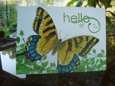Watercolored Swallowtail by ruby-heartedmom - Cards and Paper Crafts at Splitcoaststampers