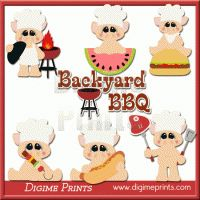 Little Piggys BBQ Clip Art