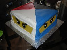 Awesome Ninjago Cake...Would be cool with a Green Ninja cake on top!!