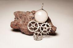 pendant, prívesok, ruženín, rose quartz, COG, cobochon, kabošon