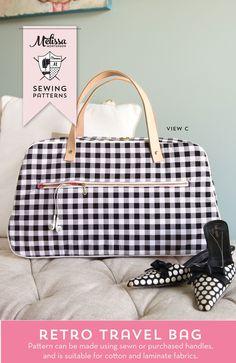d55d9862082 Refreshed Retro Travel Bag Sewing Pattern. Polka Dot ChairSummer ...