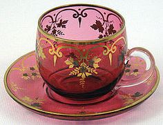 maker unkown  in Europe in the 19th century Lovely......would love to see pitcher and plates like this!