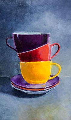 tres tazas C Amilivia painting