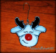 Reddy Reindeer Ornament...Made for Xmas and custom orders