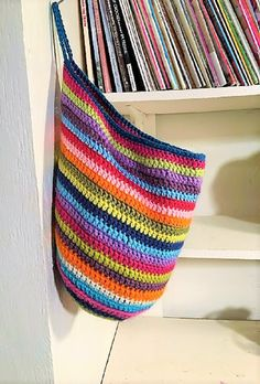 Stripey Hanging Basket