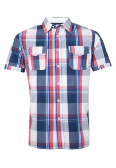 Camisa Casual Manga Curta Pockets Xadrez - Dafiti - R$ 83,85