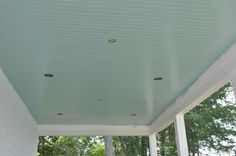 porch ceilings were painted blue so spiders wouldn't build their webs....a trick to making them think it was the sky...