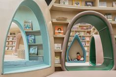 Image 1 of 61 from gallery of Neobio Family Park / X+Living. Photograph by SHAO Feng Cafe Interior, Interior Design, Kindergarten Design, Kindergarten Interior, Kids Cafe, Kids Library, Park Pictures, Kids Play Area, Parking Design