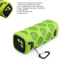 Linkte NFC Wireless Bluetooth Portable Speaker with Builtin High Capacity Power Bank and Builtin MIC Bluetooth CSR 40 Technology Compatible Outdoor Sport Climbing Stereo With Metal Snap Hook *** You can find more details by visiting the image link.