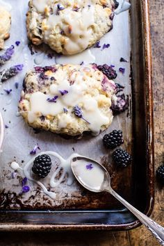 Blackberry Lavender White Chocolate Scones #brunch #beautifulfood