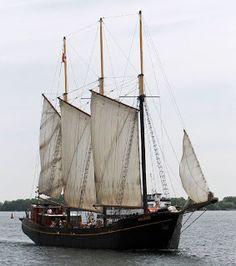 Four masted schooner north bend under way shortly after for 68 garden design gaff rigged schooner