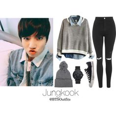 Jeju Island with Jungkook by btsoutfits on Polyvore featuring mode, Topshop and Converse