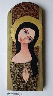 e-maluje Anioły ...: Anioł Stróż ... Ikona Autorska South American Art, Angel Artwork, Mini Canvas Art, Mary And Jesus, Learn Art, Egyptian Art, Religious Art, Art Pictures, Painted Rocks