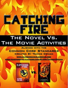 Catching Fire Movie Activities on www.hungergameslessons.com