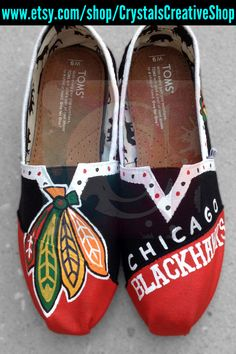 Chicago Blackhawks Hockey NHL Painted Toms