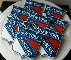 New York Rangers Logo Decorated Cookies