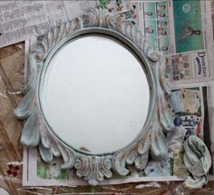 Create a Beautiful Blue Distressed Antiqued Finish with Annie Sloan Chalk Paint