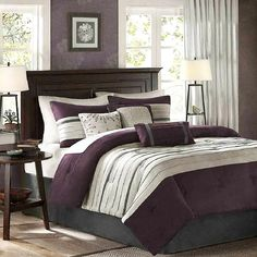 Purple passion bedroom design to add a fresh new look to your home this summer. Tag someone who would love this room. #bedroom #americanfurniturewarehouse #americanlifestylefurniture #afwonline #bedroomdesign #homedecor #interiordesign #bedding #decor #d