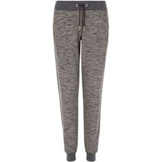 New Look Dark Grey Space Dye Zip Pocket Joggers ($15) ❤ liked on Polyvore featuring charcoal