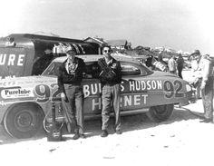 NASCAR driver Herb Thomas on Daytona Beach. (1952) | Florida Memory