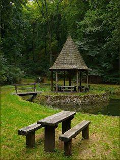 Bükk, Andó-kút. Beautiful World, Beautiful Places, Heart Of Europe, My Land, Countryside, Paths, Gazebo, Sweet Home, Journey