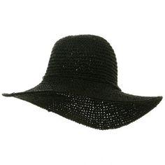 Ladies Hand Crocheted Hats-Black W32S25E Q HeadWear. $18.99