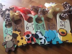 Hand Painted Closet Dividers {For Sweet Baby's Nursery} READY to SHIP on Etsy, $40.00