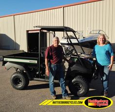 Thanks to Dave and Toni Hudson from Sumrall MS for getting a 2017 Kawasaki Mule 4010 Special Edition. @HattiesburgCycles
