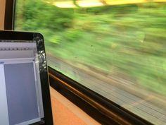 Jeanet Bathoorn #synchroonkijken thema van vandaag Snelheid. In de trein dus maar