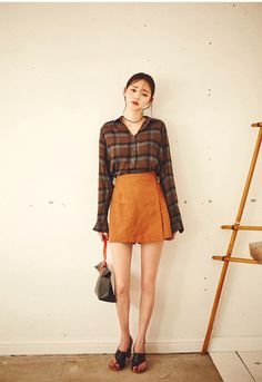 Fall Mood Check Shirt  | Korean Fashion #CHUU