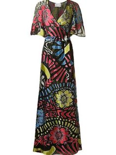 Vestido longo devorê Long Dresses, I Dress, Fashion Dresses, Designers, Clothing, Shopping, Women, Floral Dresses, Designer Dresses