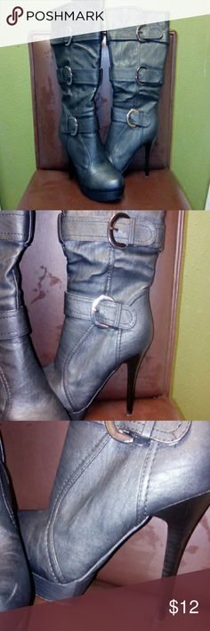 "Charlotte Russe Tall Boots 5"" Heel / Boot Height 10"" Charlotte Russe Shoes Heeled Boots"