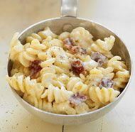 Bacon and Cheddar Macaroni & Cheese  do not look at nutritional info!