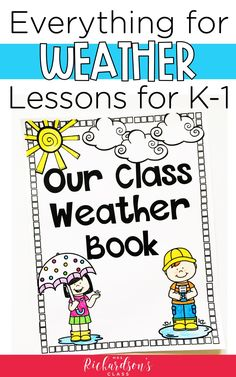 This top-rated weather resource has everything you'll need for your kindergarten and first grade weather unit. The engaging activities and helpful printables easily work into any lesson plans. You'll be totally set to teach all about the weather! Weather Kindergarten, Teaching Weather, Kindergarten Units, Weather Science, Kindergarten Lesson Plans, Weather Activities, Phonics Activities, Weather Unit, Weather Book