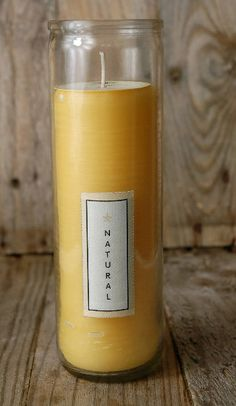 """Pure Beeswax Sanctuary Glass Candle 8"""""""