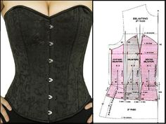 Make a gift box and put some exquisite gift into it for your mother. Who doesn - Salvabrani Corset Sewing Pattern, Bodice Pattern, Dress Sewing Patterns, Clothing Patterns, Costura Fashion, Mode Abaya, Sewing Blouses, Lace Tights, Fashion Sewing