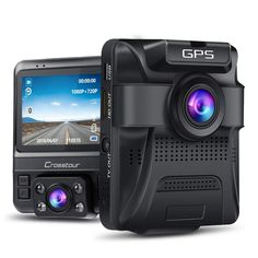Best offer Uber Dual Lens Dash Cam Built-in GPS in Car Dashboard Camera Crosstour Front and Inside with Parking Monitoring, Infrared Night Vision, Sony Sensor, Motion Detection, G-Sensor and WDR Deals Car Camera, Camera Lens, Ac Dc, Uber, Gopro, Android Tv, Tv Box, Audio, Cool Stuff