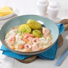 Med den nye middagsbasen er det lekende lett å servere klassisk fiskegryte. Diet Tips, Potato Salad, Healthy Recipes, Healthy Food, Seafood, Food And Drink, Meat, Dinner, Ethnic Recipes