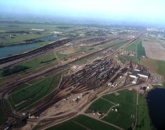 The Conglomeration — supplyside:   Union Pacific freight rail yard,...