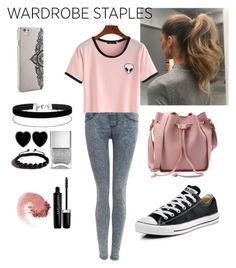 """""""Untitled #14"""" by socerk ❤ liked on Polyvore featuring Pilot, Nanette Lepore, Miss Selfridge, Dollydagger, Shamballa Jewels, Nails Inc., Marc Jacobs, NARS Cosmetics, Converse and Leggings"""