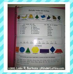 Kinder Latino: Bilingual Teaching Resources: Homework Folder Printable